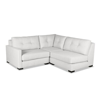 Secrest Sectional Upholstery: White, Orientation: Left Hand Facing