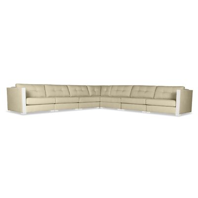 Steffi Buttoned Right and Left Arms L-Shape Modular Sectional Upholstery: Sand
