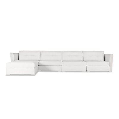 Steffi Buttoned Chaise Modular Sectional Upholstery: White, Orientation: Left Hand Facing