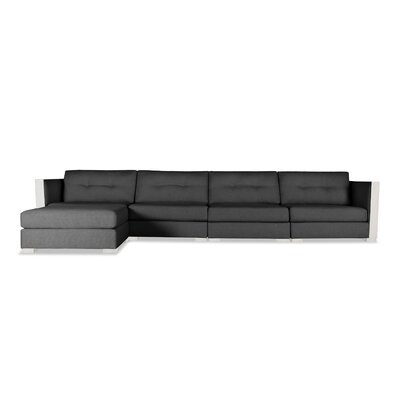 Steffi Buttoned Chaise Modular Sectional Upholstery: Charcoal, Orientation: Left Hand Facing