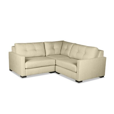 Secrest Buttoned L-Shape Mini Modular Sectional Upholstery: Sand
