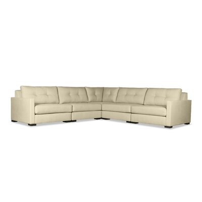 Secrest Buttoned Right and Left Arms L-Shape Standard Modular Sectional Upholstery: Sand