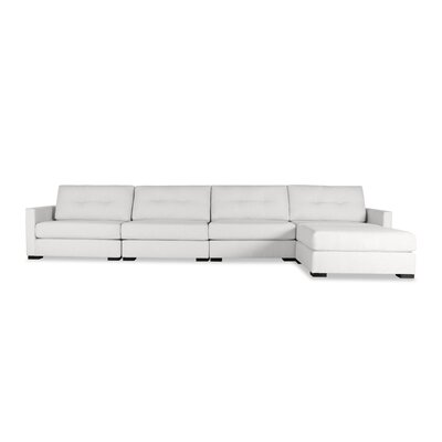 Secrest Buttoned Chaise Modular Sectional Upholstery: White, Orientation: Left Hand Facing