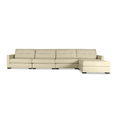 Secrest Buttoned Chaise Modular Sectional Upholstery: Sand, Orientation: Left Hand Facing