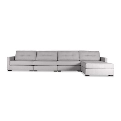 Secrest Buttoned Chaise Modular Sectional Upholstery: Gray, Orientation: Left Hand Facing