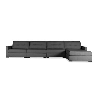 Secrest Buttoned Chaise Modular Sectional Upholstery: Charcoal, Orientation: Left Hand Facing