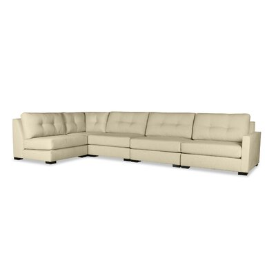 Secrest Buttoned Left L-Shape Modular Sectional Upholstery: Sand