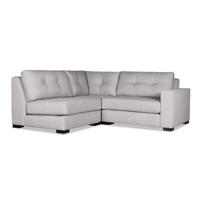 Brose Sectional Upholstery: Gray, Orientation: Right Hand Facing