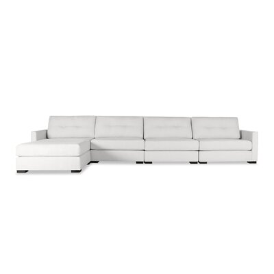Secrest Buttoned Chaise Modular Sectional Upholstery: White, Orientation: Right Hand Facing