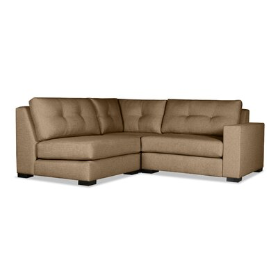 Brose Sectional Upholstery: Brown, Orientation: Right Hand Facing