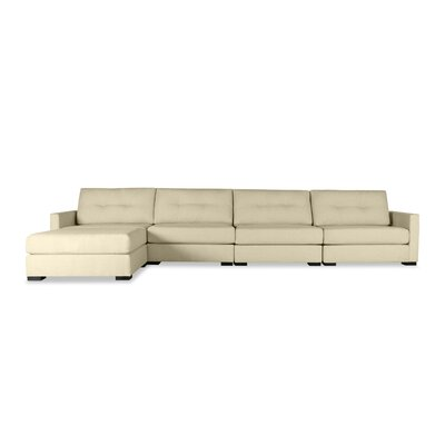 Secrest Buttoned Chaise Modular Sectional Upholstery: Sand, Orientation: Right Hand Facing