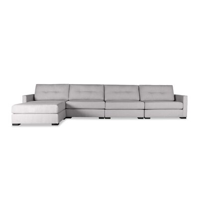 Secrest Buttoned Chaise Modular Sectional Upholstery: Gray, Orientation: Right Hand Facing