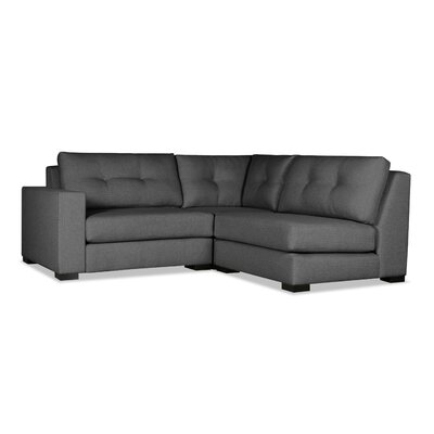 Brose Sectional Upholstery: Charcoal, Orientation: Left Hand Facing