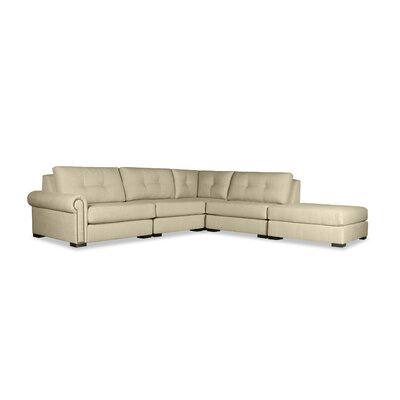 Lebanon Buttoned Sectional Upholstery: Sand, Orientation: Right Hand Facing