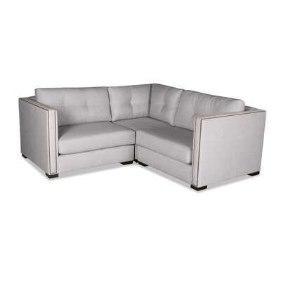 Timpson Buttoned Right and Left Arms L-Shape Mini Modular Sectional Upholstery: Gray