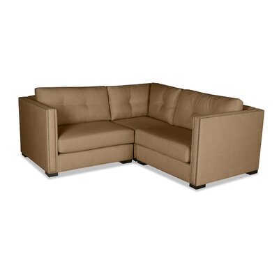 Timpson Buttoned Right and Left Arms L-Shape Mini Modular Sectional Upholstery: Brown