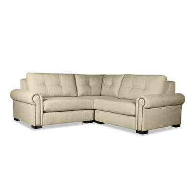 Lebanon Buttoned Right and Left Arms L-Shape Mini Modular Sectional Upholstery: Sand