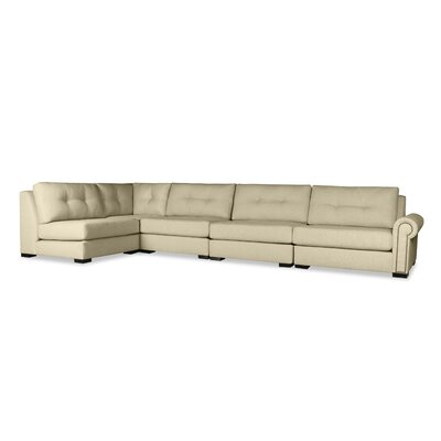 Lebanon Buttoned Left L-Shape Modular Sectional Upholstery: Sand