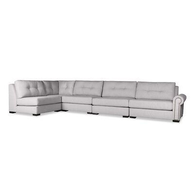 Lebanon Buttoned Left L-Shape Modular Sectional Upholstery: Gray
