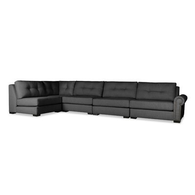 Lebanon Buttoned Left L-Shape Modular Sectional Upholstery: Charcoal