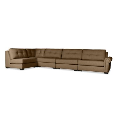 Lebanon Buttoned Left L-Shape Modular Sectional Upholstery: Brown