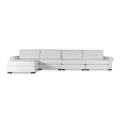 Lebanon Buttoned Sectional Upholstery: White, Orientation: Left Hand Facing
