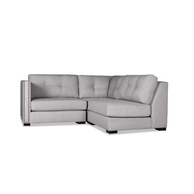 Timpson Buttoned L-Shape Mini Modular Sectional Upholstery: Gray, Orientation: Left Hand Facing
