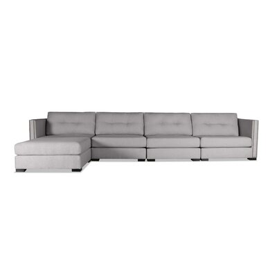 Timpson Buttoned Modular Sectional Upholstery: Gray, Orientation: Left Hand Facing