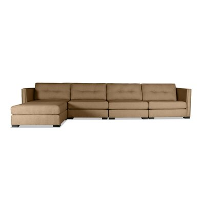 Timpson Buttoned Modular Sectional Upholstery: Brown, Orientation: Left Hand Facing