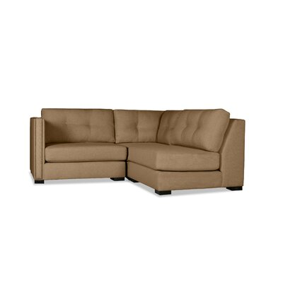 Timpson Buttoned L-Shape Mini Modular Sectional Upholstery: Brown, Orientation: Left Hand Facing