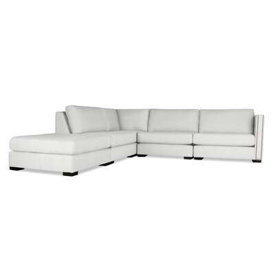 Timpson Modular Sectional with Ottoman Upholstery: White, Orientation: Left Hand Facing
