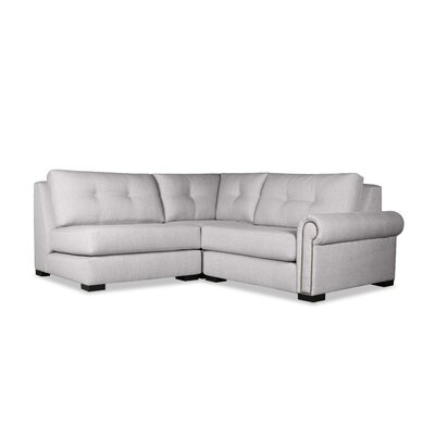 Lebanon Buttoned Sectional Upholstery: Gray, Orientation: Right Hand Facing
