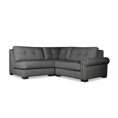Lebanon Buttoned Sectional Upholstery: Charcoal, Orientation: Right Hand Facing