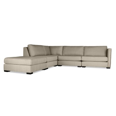 Timpson Modular Sectional with Ottoman Upholstery: Sand, Orientation: Left Hand Facing