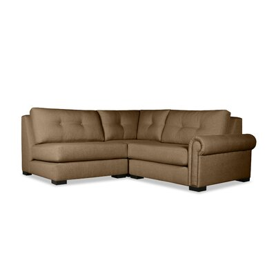 Lebanon Buttoned Sectional Upholstery: Brown, Orientation: Right Hand Facing
