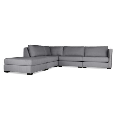 Timpson Modular Sectional with Ottoman Upholstery: Gray, Orientation: Left Hand Facing
