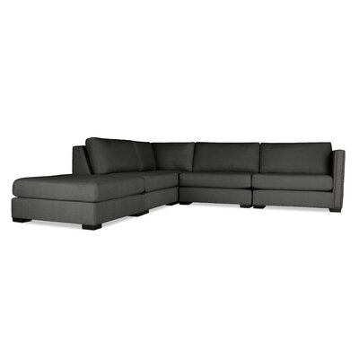 Timpson Modular Sectional with Ottoman Upholstery: Charcoal, Orientation: Left Hand Facing