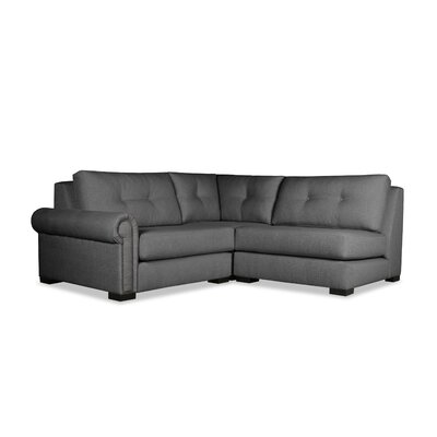 Lebanon Buttoned Sectional Upholstery: Charcoal, Orientation: Left Hand Facing