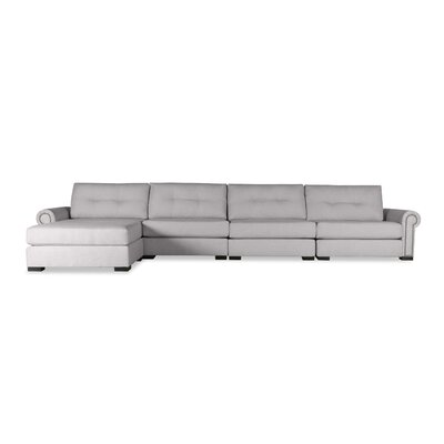 Lebanon Buttoned Sectional Upholstery: Gray, Orientation: Left Hand Facing