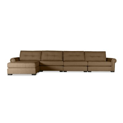 Lebanon Buttoned Sectional Upholstery: Brown, Orientation: Left Hand Facing