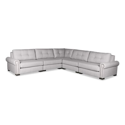 Lebanon Buttoned Sectional Upholstery: Gray