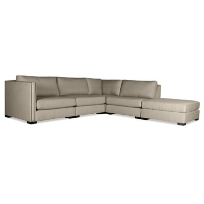 Timpson Modular Sectional with Ottoman Upholstery: Sand, Orientation: Right Hand Facing