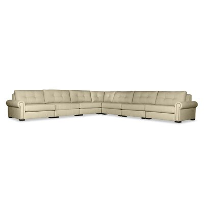 Lebanon Buttoned Right and Left Arms L-Shape Modular Sectional Upholstery: Sand
