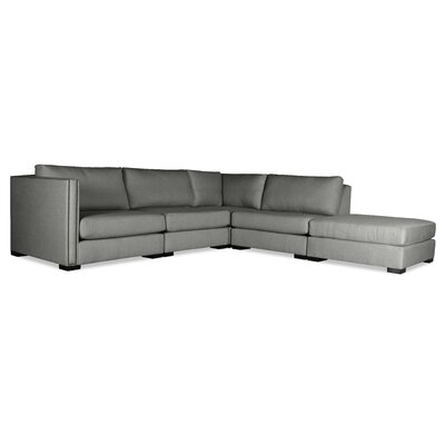 Timpson Modular Sectional with Ottoman Upholstery: Gray, Orientation: Right Hand Facing