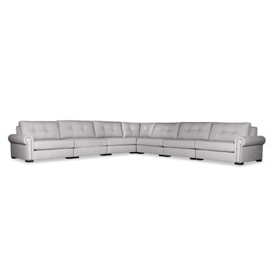 Lebanon Buttoned Right and Left Arms L-Shape Modular Sectional Upholstery: Gray