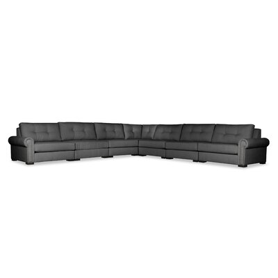 Lebanon Buttoned Right and Left Arms L-Shape Modular Sectional Upholstery: Charcoal