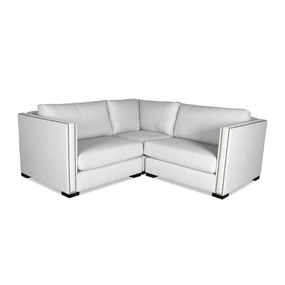 Timpson Right and Left Arms L-Shape Mini Modular Sectional Upholstery: White