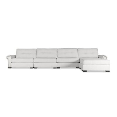 Lebanon Buttoned Sectional Upholstery: White, Orientation: Right Hand Facing