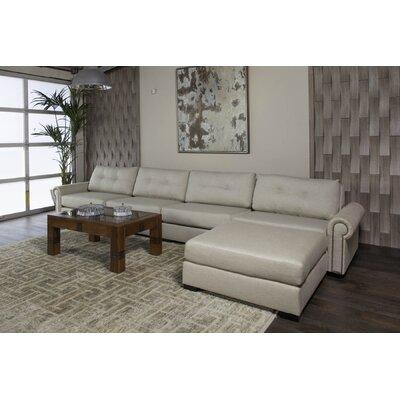 Lebanon Plush Deep Modular Sectional with Ottoman Upholstery: Sand, Orientation: Right Hand Facing 76B766EA47C9429C80A5B6C7090EE6CD