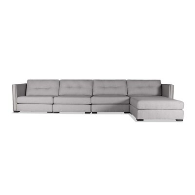 Timpson Buttoned Modular Sectional Upholstery: Gray, Orientation: Right Hand Facing